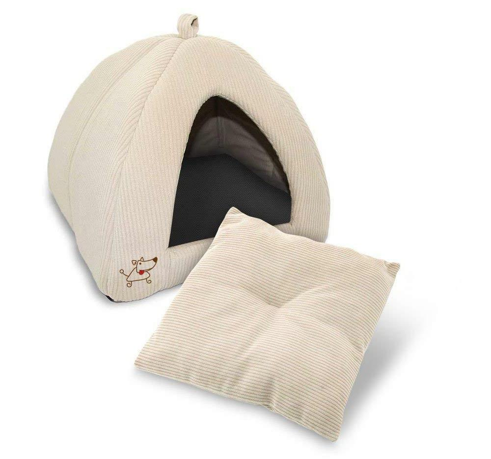 Pet Dog Cat Bed House Tent Medium Soft Puppy Portable Mat Pa