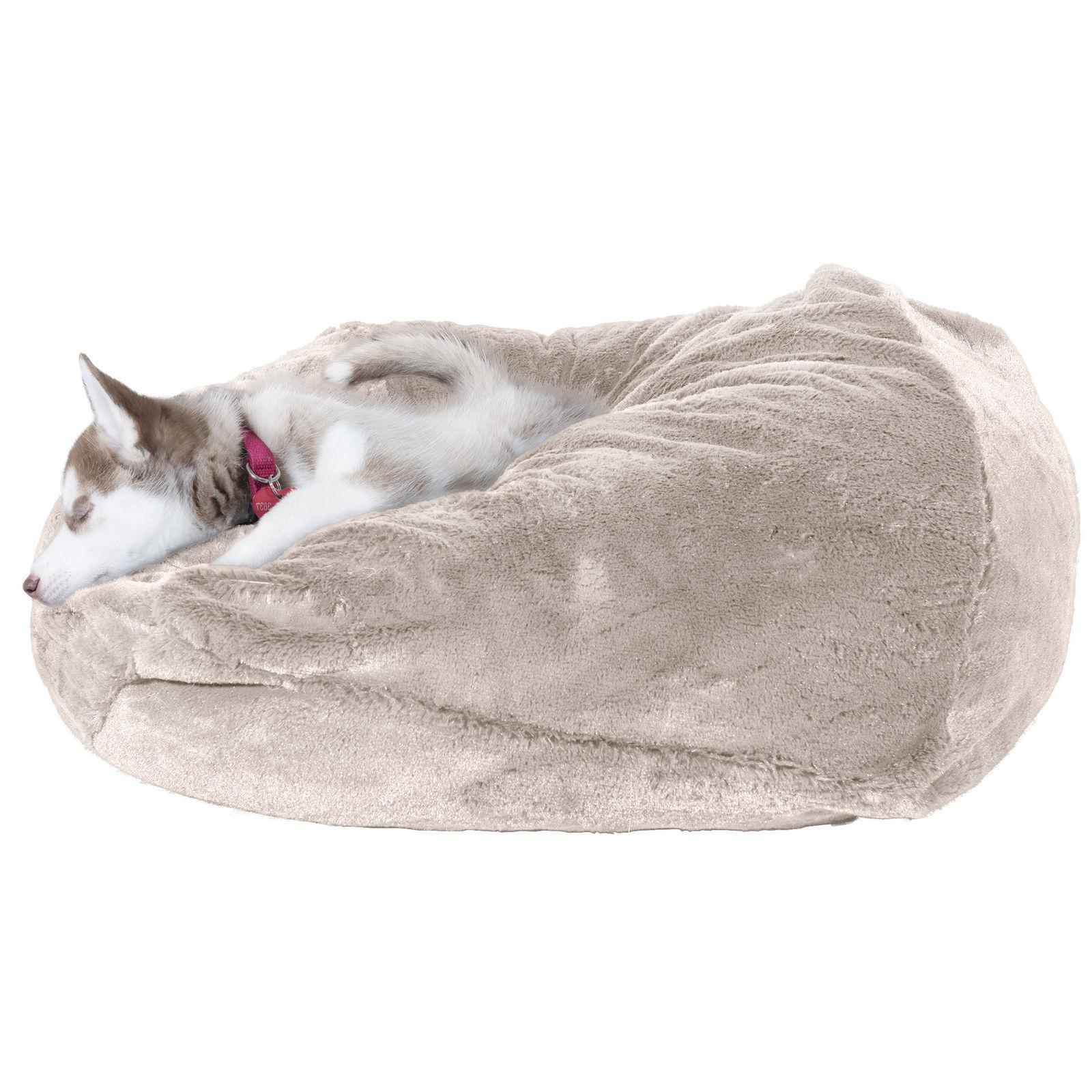 FurHaven Insulating Plush Ball Dog Bed
