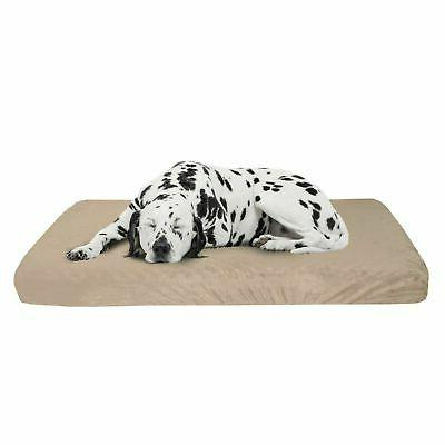large orthopedic memory foam dog bed