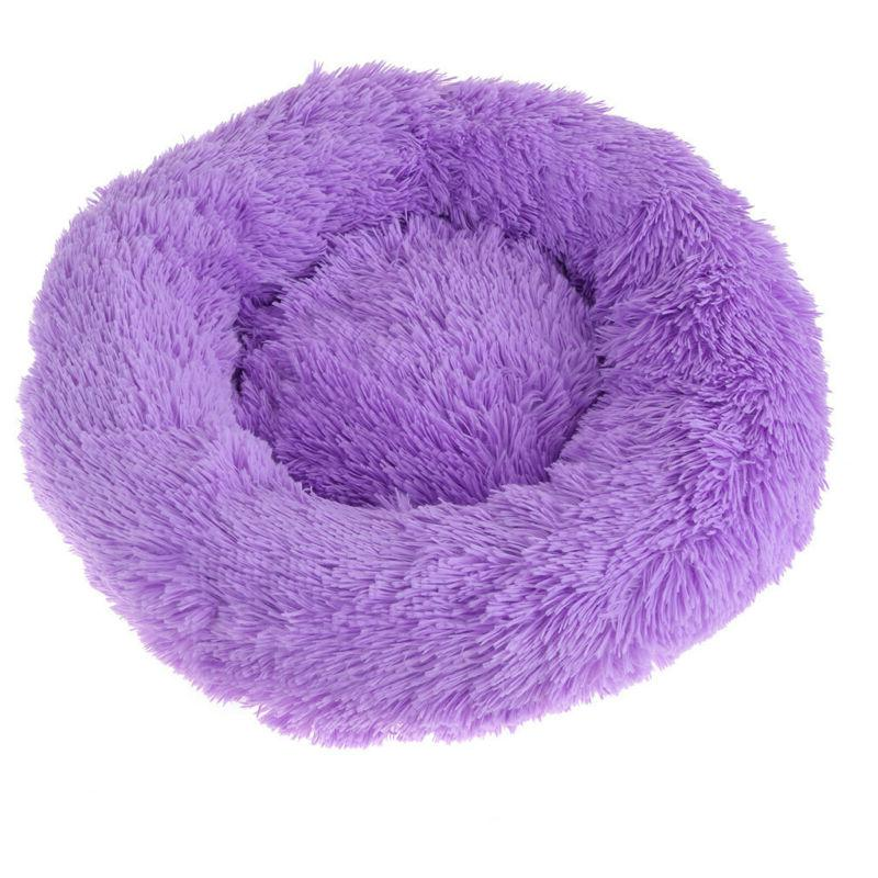 Large Calming Bed Round Warm Soft Sleeping Bed US