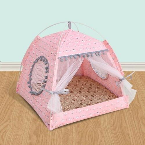 pink large puppy pet dog cat bed