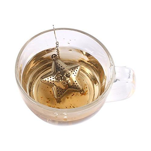Loose Tea Infuser Leaf Filter Herbal Container Chain Steel