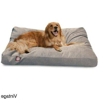 Majestic Pet Grey Collection Large/ Extra Dog Rectangle Dog Bed with