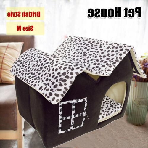 Portable Dog House Small Pet Bed Puppy Kennel Cave Stable Ca