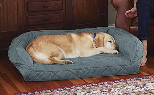 Orvis Memory Foam Bolster Dog Bed/X-large Dogs Up