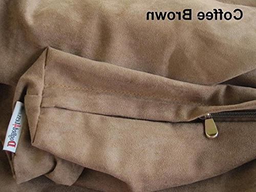 Dogbed4less Medium Dog with Orthopedic Comfort, Liner and Brown Microsuede