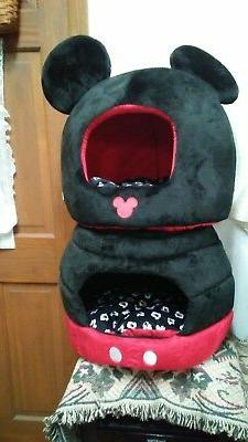 MICKEY MOUSE DOME BED ENCLOSED DOG/CAT CUSHION FURNITURE POR