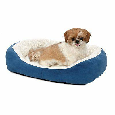MidWest Faux Suede Fleece Cuddle Dog Bed