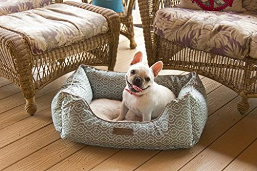 Pet Chic Trellis Pet Bed for Dog and 28-Inch x Blue