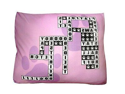NEW & UNIQUE CROSSWORD PUZZLE DOG BED ! BRING THE OUTDOOR IN