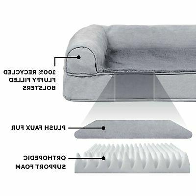 New FurHaven Plush & Suede Orthopedic Pet Bed and