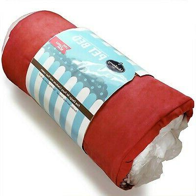 New Blueberry Pet Duty Microsuede Overstuffed Bed, Recyclable