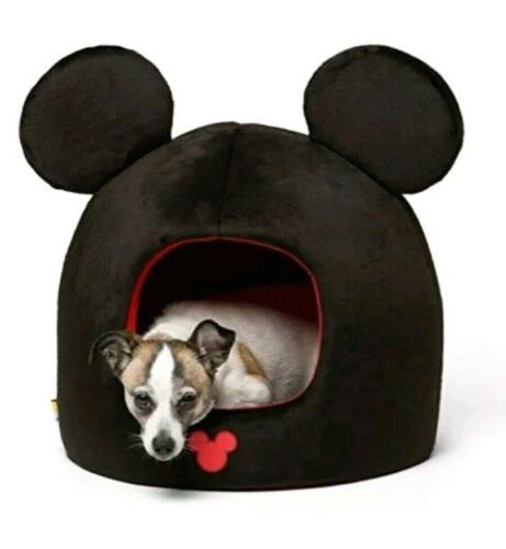 NWT MICKEY MOUSE BLACK PET DOG CAT HOUSE