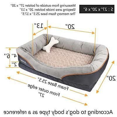 JOYELF Dog Bed, Memory Foam with