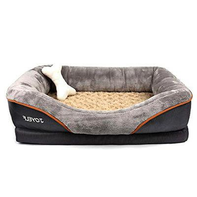 orthopedic dog bed memory foam pet bed