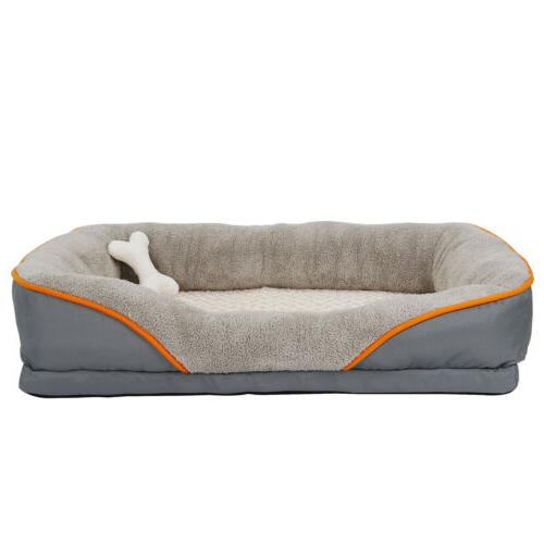 Orthopedic Dog Bed Sofa Memory Foam Lounge w/Removable Cover
