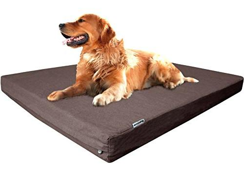 Dogbed4less Premium Memory Foam Dog Bed with Denim Cover, and Extra Gel