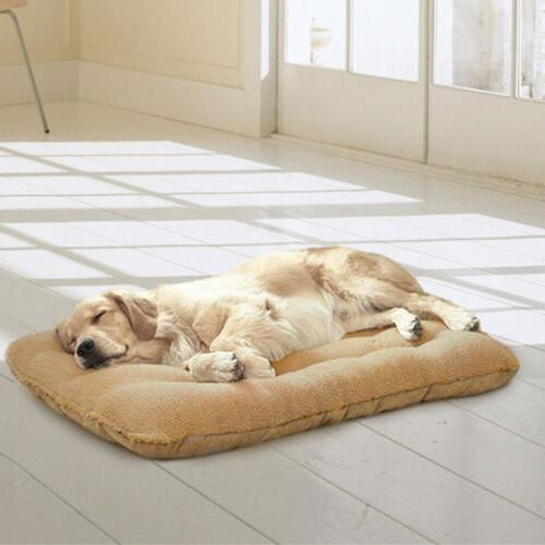 Orthopedic Bed Pet Lounger Cushion Crate Soft Large L