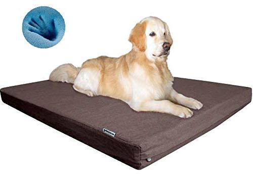 Dogbed4less Premium XXL Memory Foam Dog with Cover, Extra Pet Bed Gel 55X37X4
