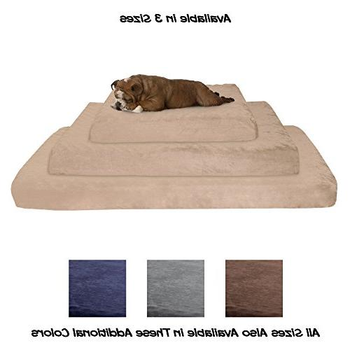 PETMAKER Orthopedic Pet - Memory Foam Cover 37x24x4 by Tan