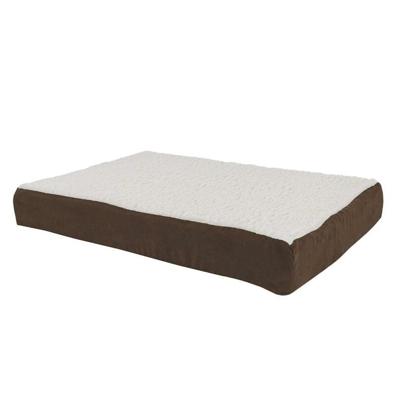 Petmaker Orthopedic Sherpa Top Pet Bed With Memory Foam And