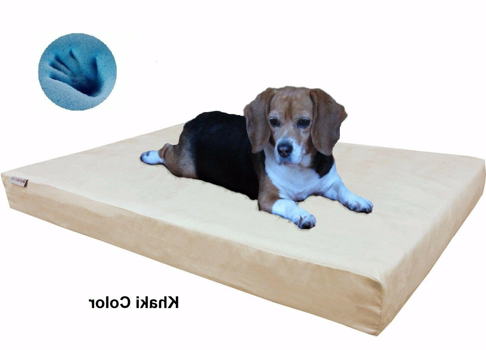 Dogbed4less Orthopedic Waterproof Memory Foam Bed to XL Size