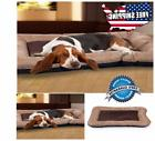 "Paw Cozy For Pet Dog Bed Tan Large 33"" x 24"" Lined Memory Fo"
