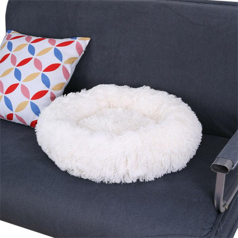 Large Pet Calming Warm Plush Bed Kennel