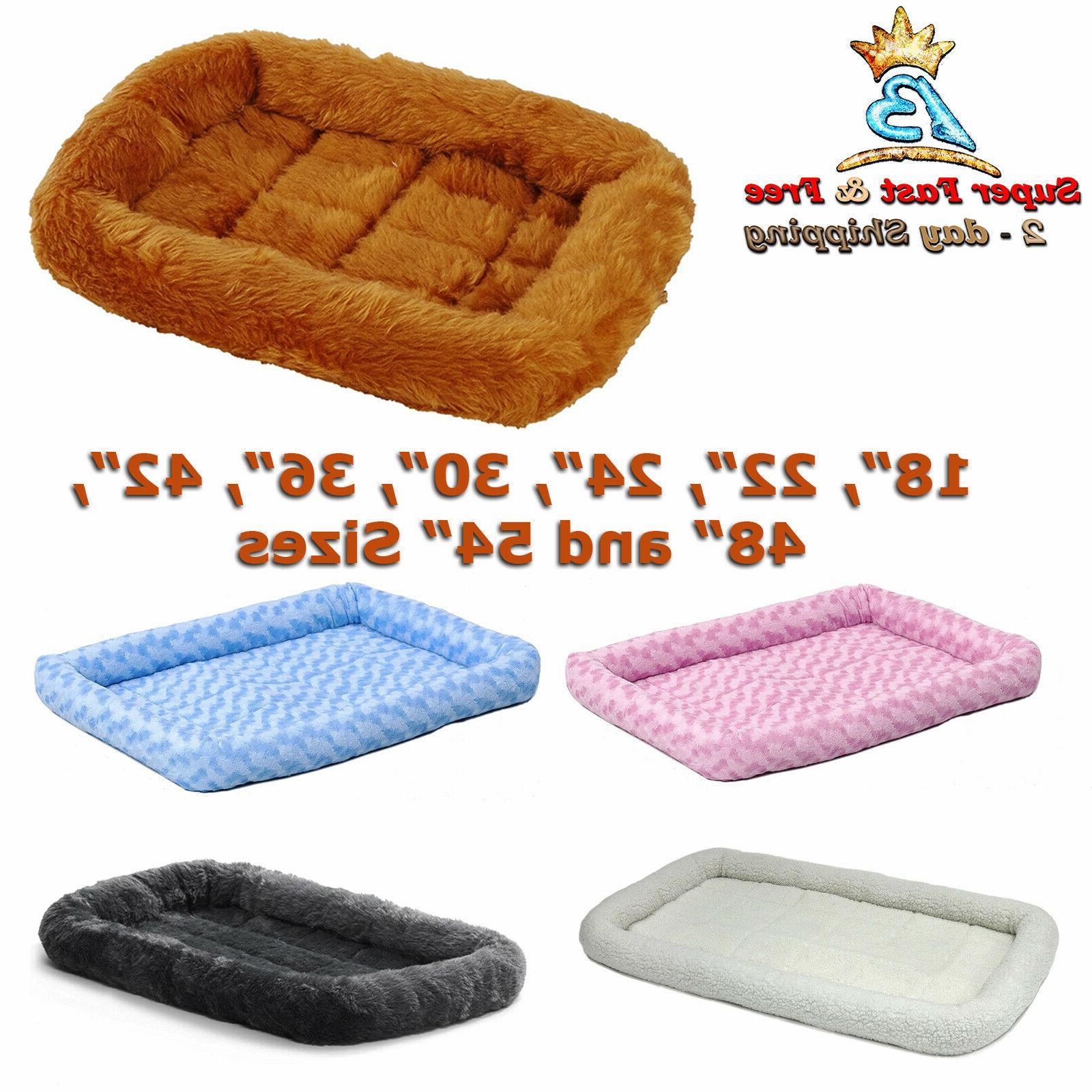 pet bed with faux fur and padded
