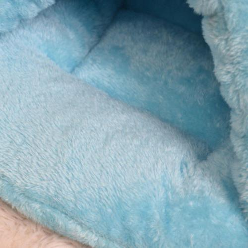 Pet Igloo Bed House Kitten Soft Cushion Kennel