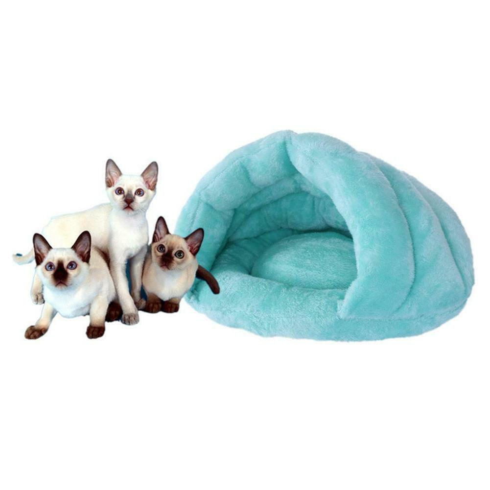 H3E# Cat Puppy Bed Igloo Warm
