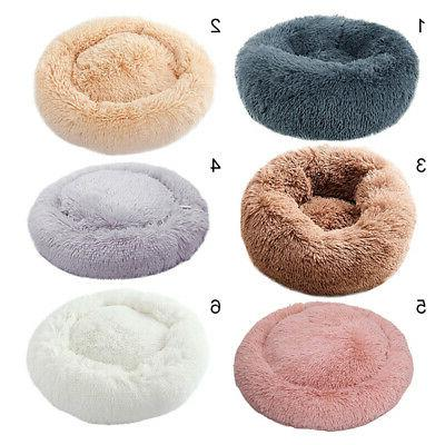 Pet Round Soft Mat Plush Calming for Sleeping