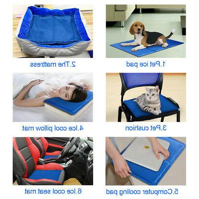Free Paws Pet Cooling Pad Mat For Dog Kennel Blue