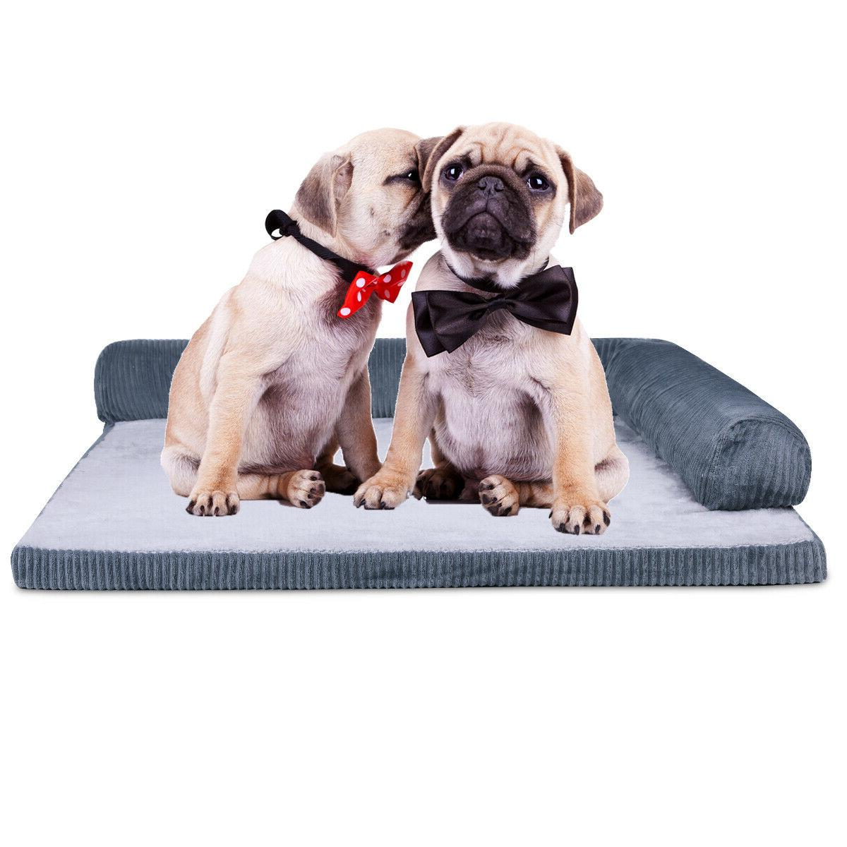 pet dog bed deluxe orthopedic soft quilted