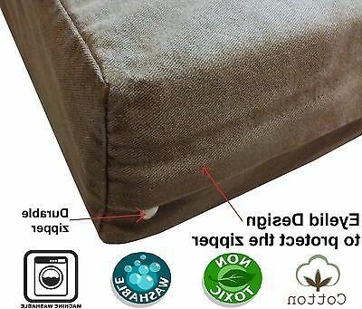 pet dog bed replacement cover brown durable