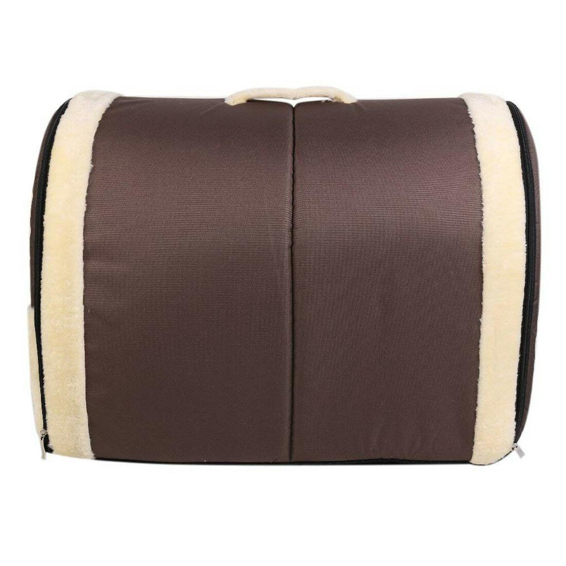 Pet Cat Bed Puppy Sofa 2in1 Warm Kennel Pad w & Handle