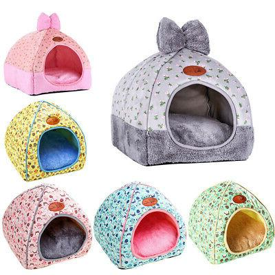 pet dog cat bed tent house warm