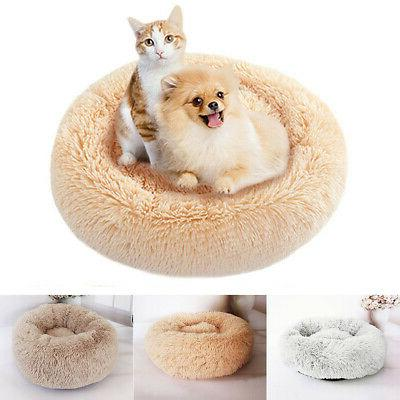 Pet Cat Bed Soft Plush Comfortable for Sleeping
