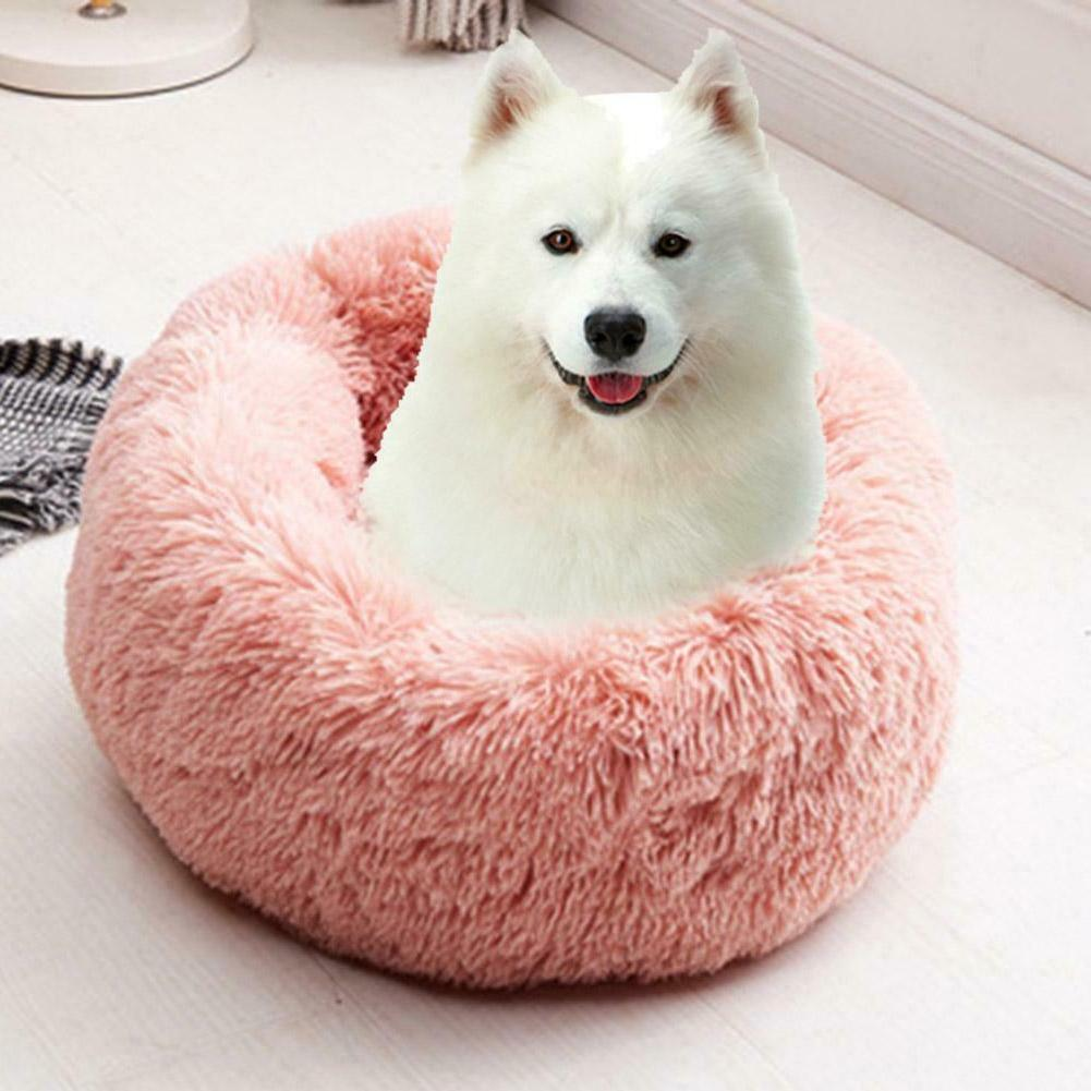 Pet Cat Bed Round Nest Comfy Sleeping Cave