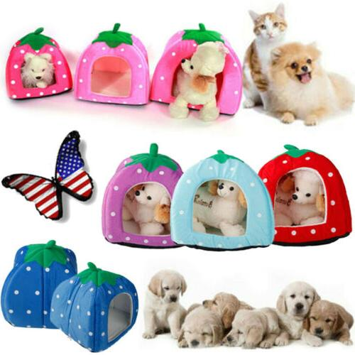 pet foldable house strawberry cave sleep bed