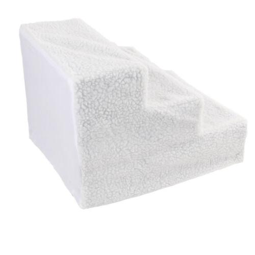 Soft Pet Stairs Ramp Cat Bed Ladder Dog White
