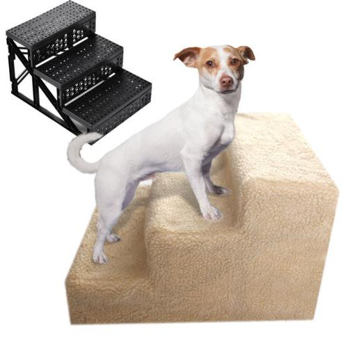 Pet Gear 3 Steps Dog Stairs for or Bed