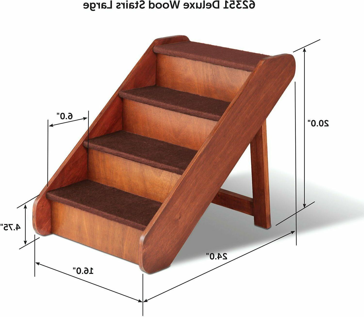 Pet Stairs Wooden Dog Cat Couch Walnut Pets Up to