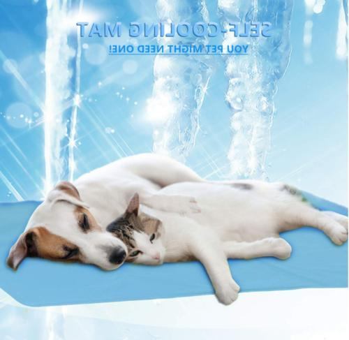 Pet Summer Cooling Cool Gel Pad Cushion Bed Cat Puppy DU