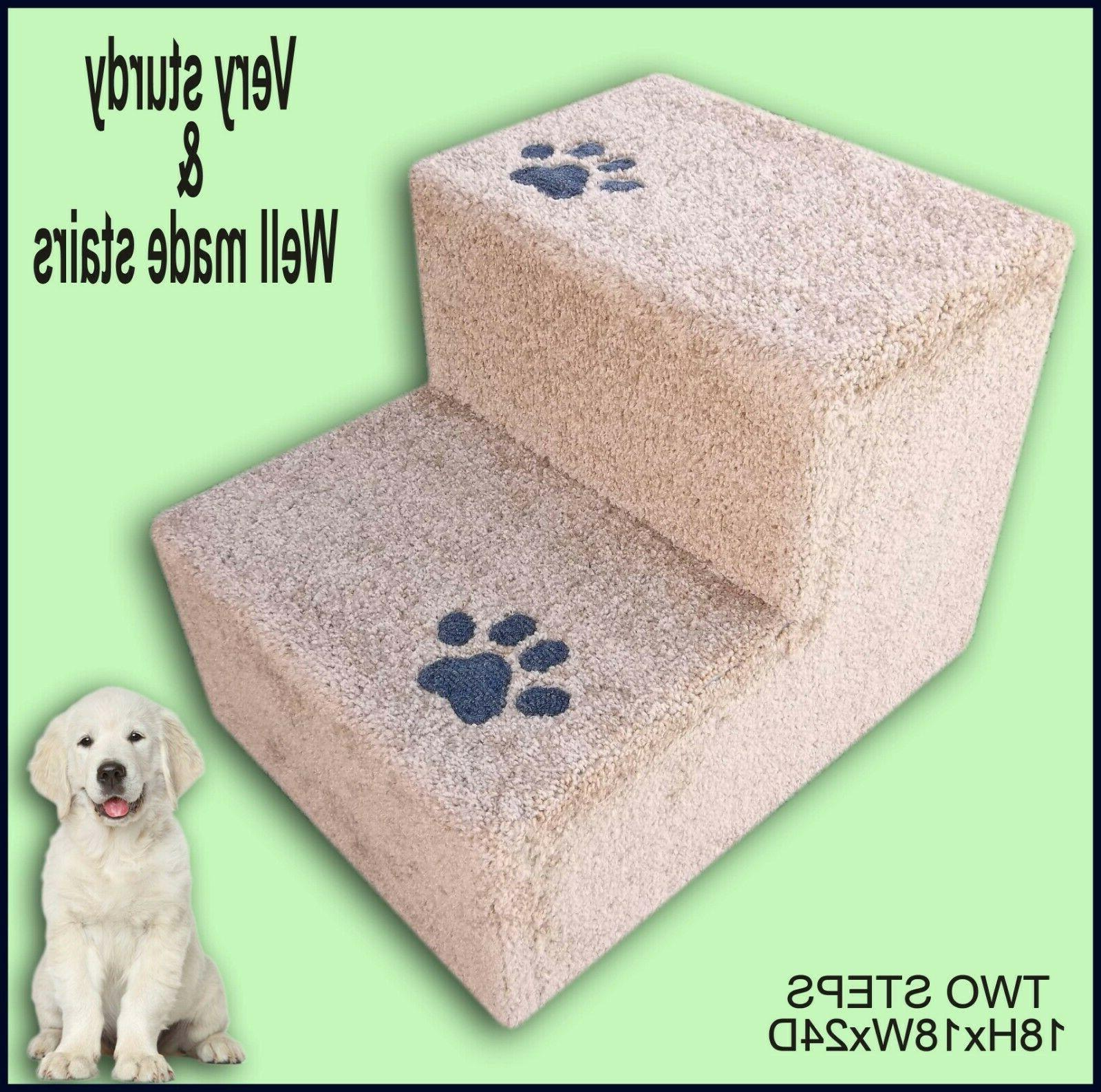 Pet Supplies. Pet Stairs for Dogs and Cats. Carpeted dog ste