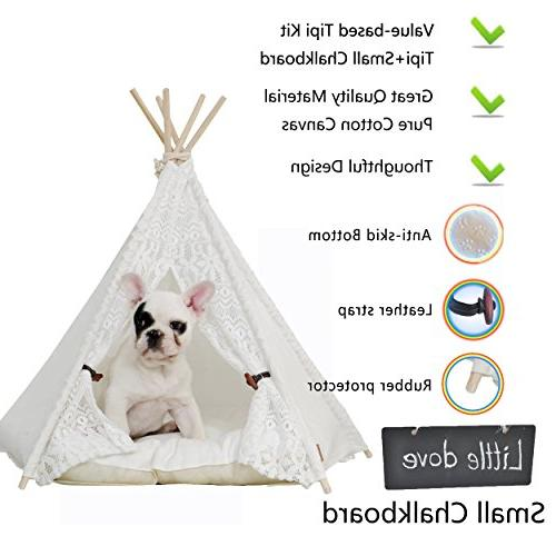 little dove Dog Bed - Portable Tents & Houses 24 Inch Cushion
