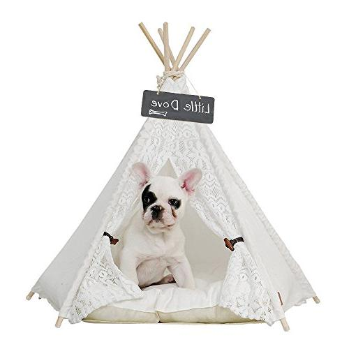 pet teepee dog cat bed