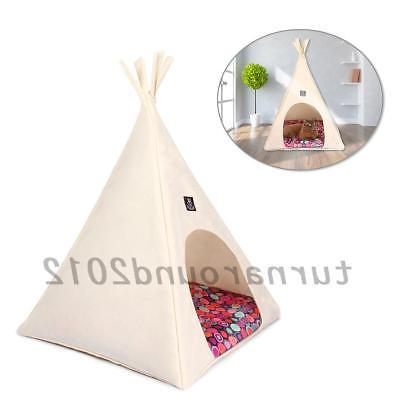 pet teepee dog puppy cat bed washable