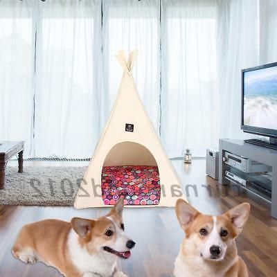 Pet Teepee Dog Pet Tent Kitten Kennel