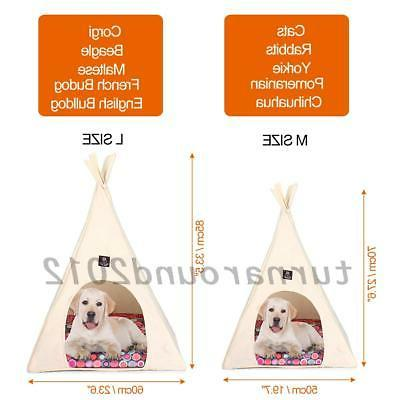 Pet Teepee Cat Bed Washable Pet Kitten Kennel